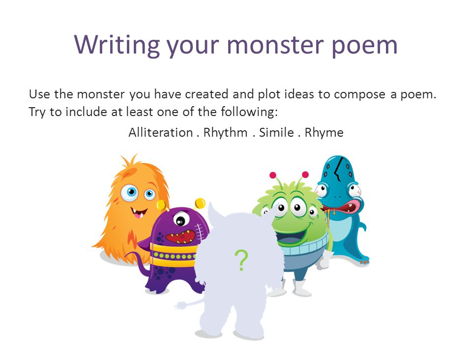 Writing your monster poem