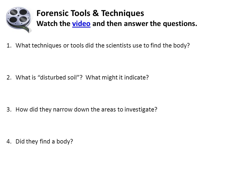 Forensic Tools & Techniques