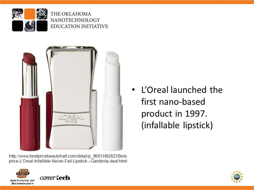 L'Oreal launched the first nano-based product in 1997