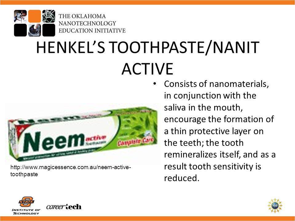 HENKEL'S TOOTHPASTE/NANIT ACTIVE