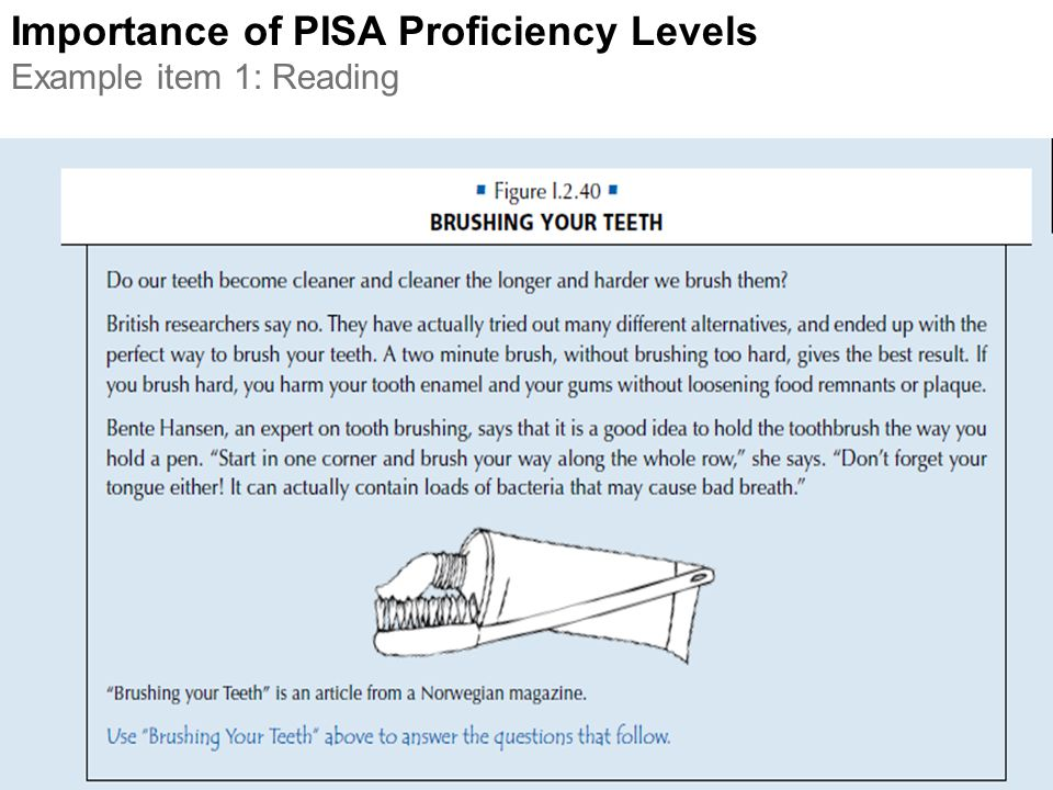 Importance of PISA Proficiency Levels