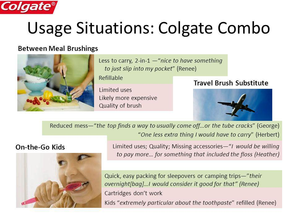 Usage Situations: Colgate Combo