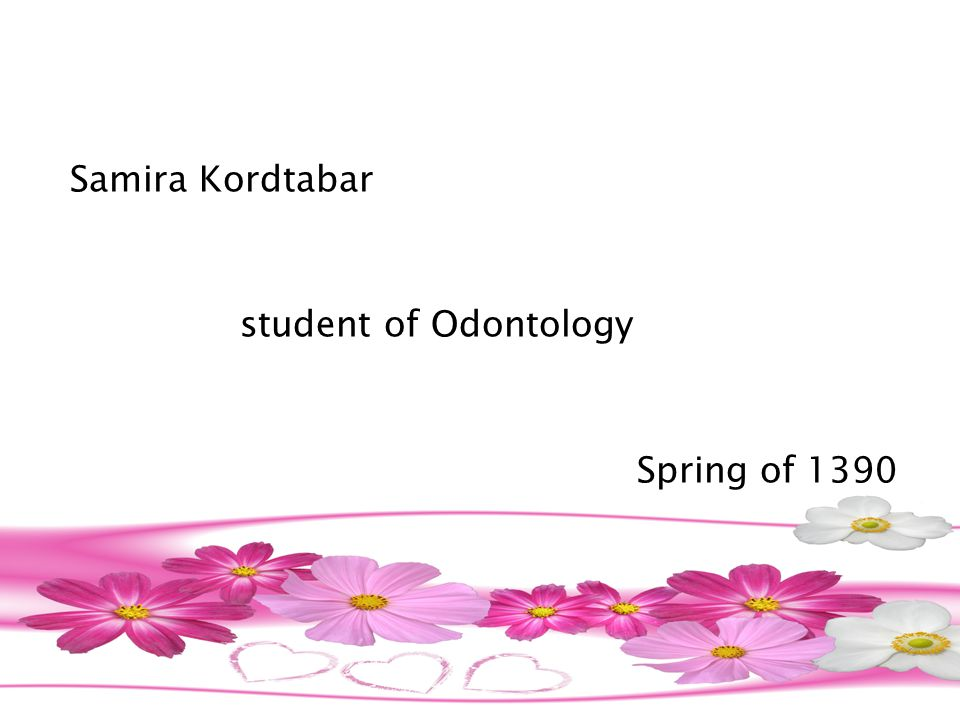 Samira Kordtabar student of Odontology Spring of 1390