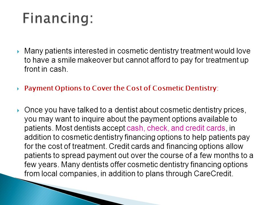 Financing: