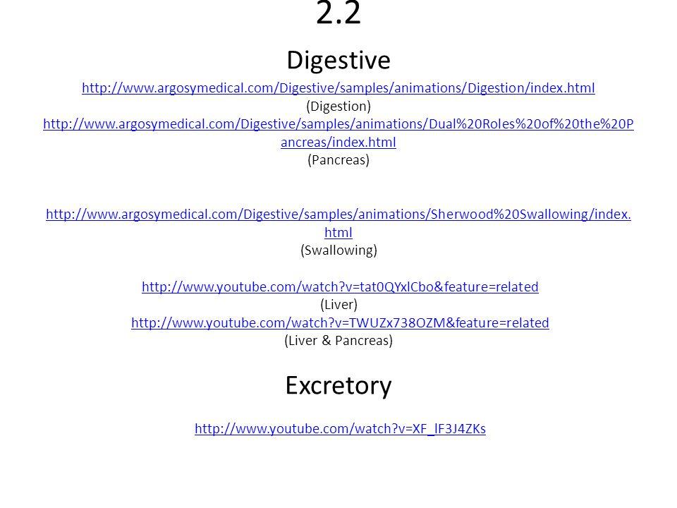 2. 2 Digestive http://www. argosymedical
