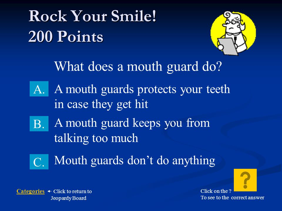 What does a mouth guard do