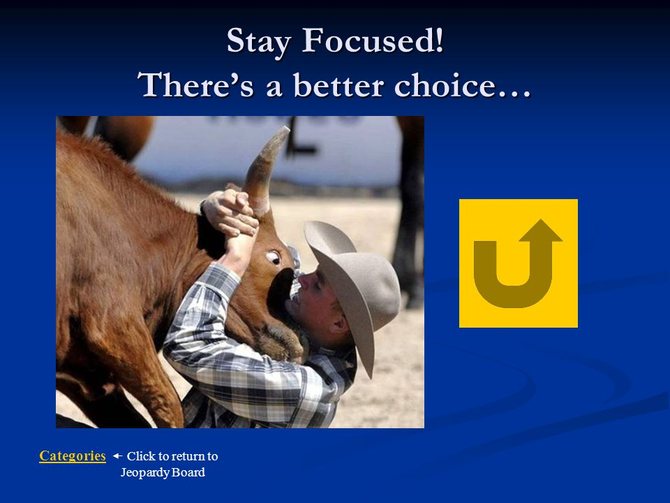 Stay Focused! There's a better choice…