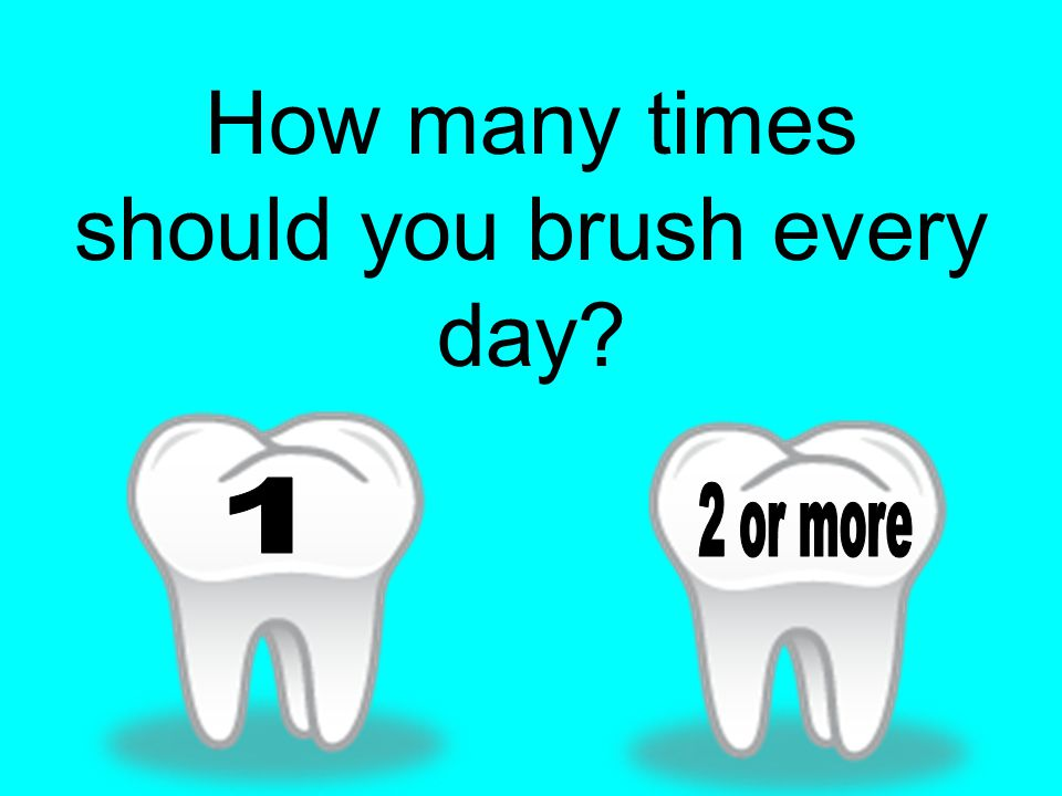 How many times should you brush every day