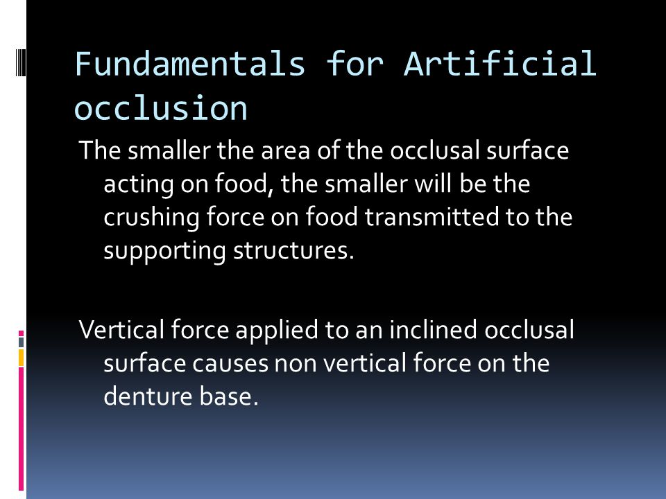 Fundamentals for Artificial occlusion