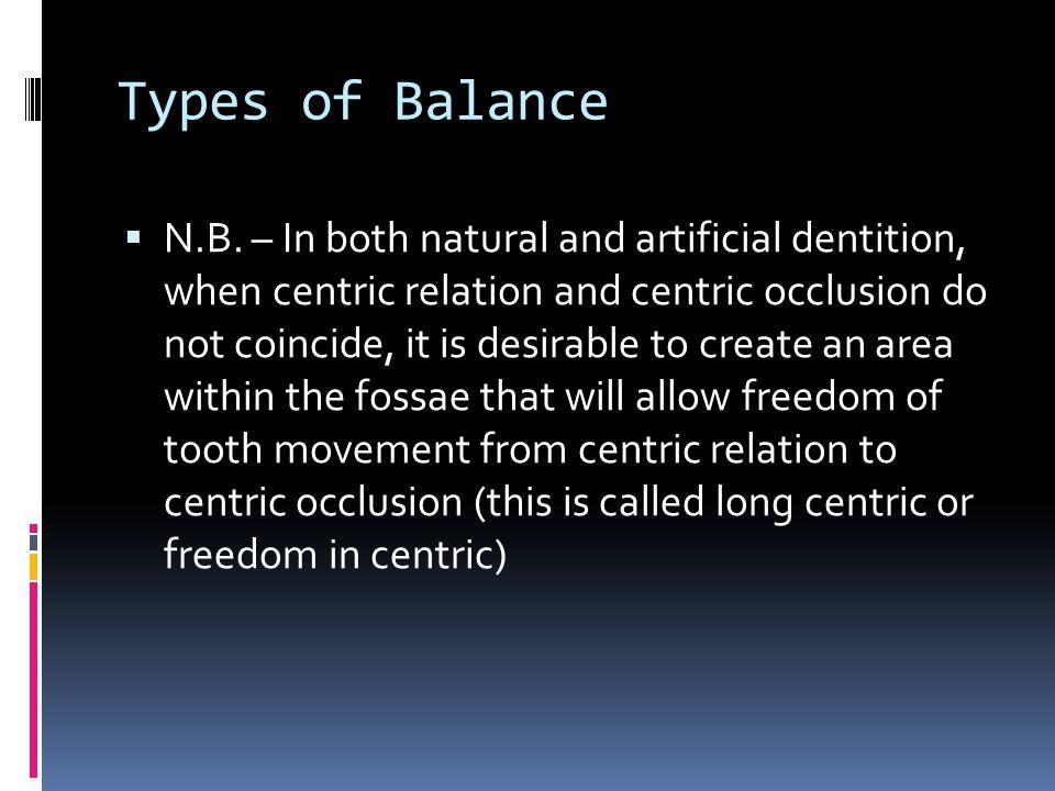 Types of Balance
