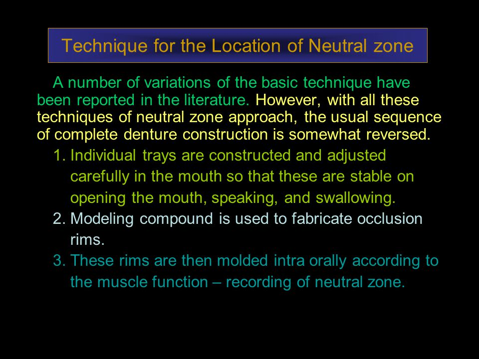 Technique for the Location of Neutral zone