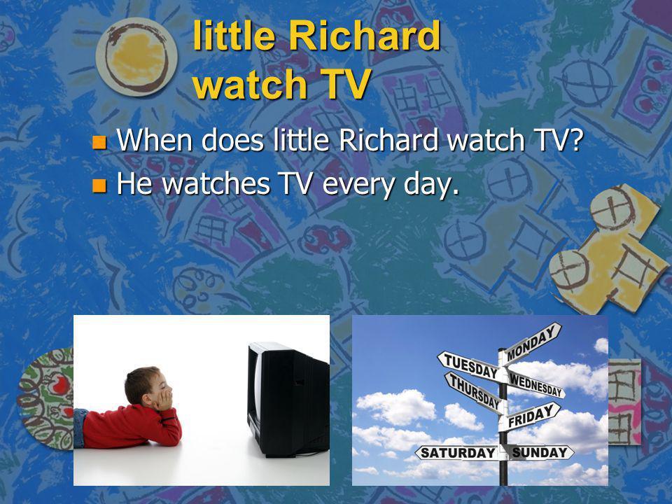 little Richard watch TV