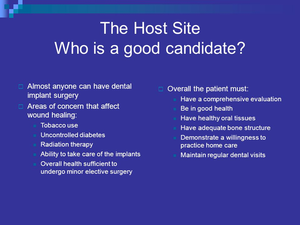 The Host Site Who is a good candidate