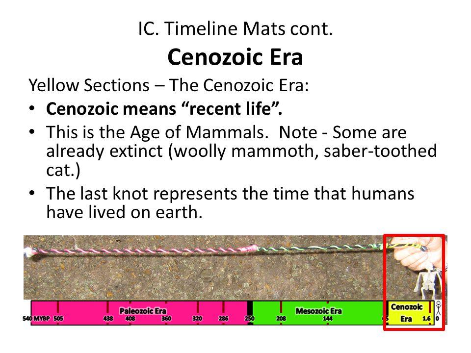 IC. Timeline Mats cont. Cenozoic Era