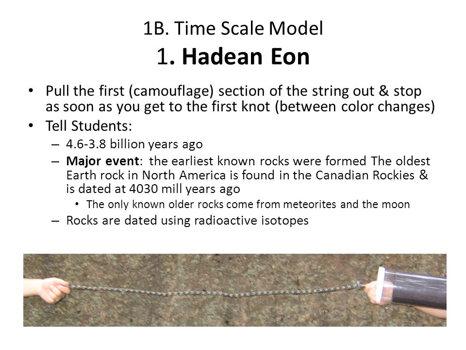 1B. Time Scale Model 1. Hadean Eon