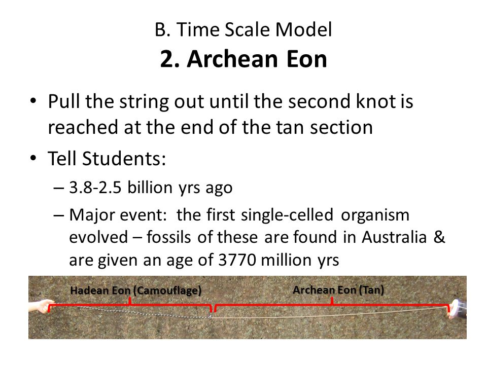 B. Time Scale Model 2. Archean Eon