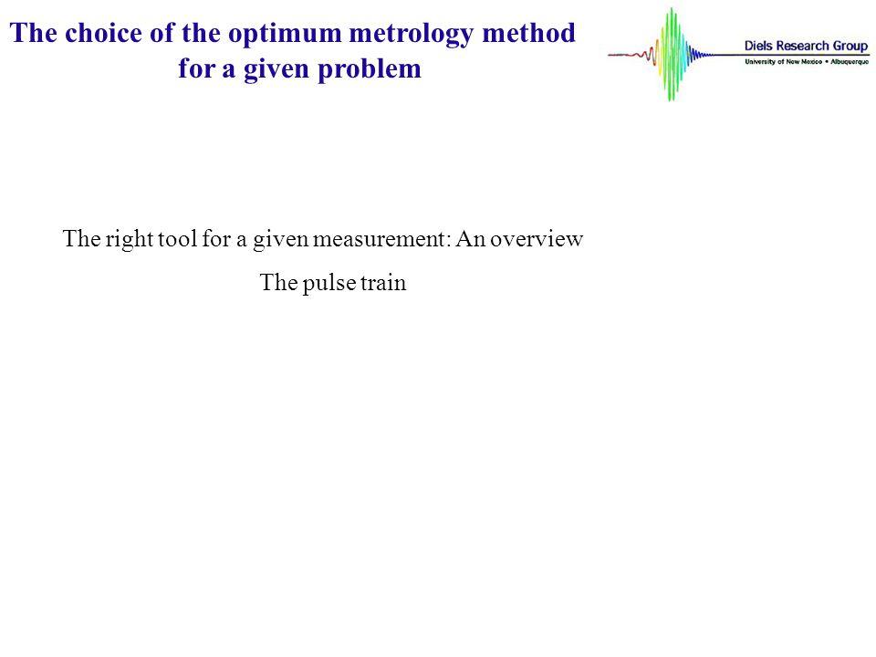 The choice of the optimum metrology method