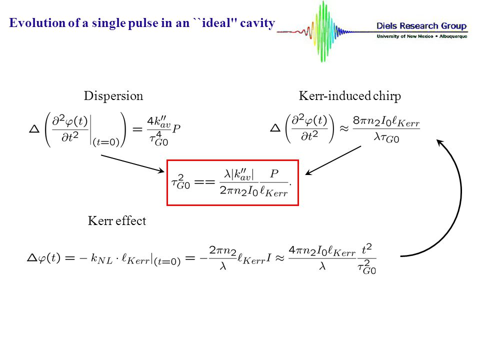 Evolution of a single pulse in an ``ideal cavity