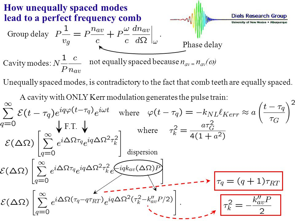 How unequally spaced modes lead to a perfect frequency comb