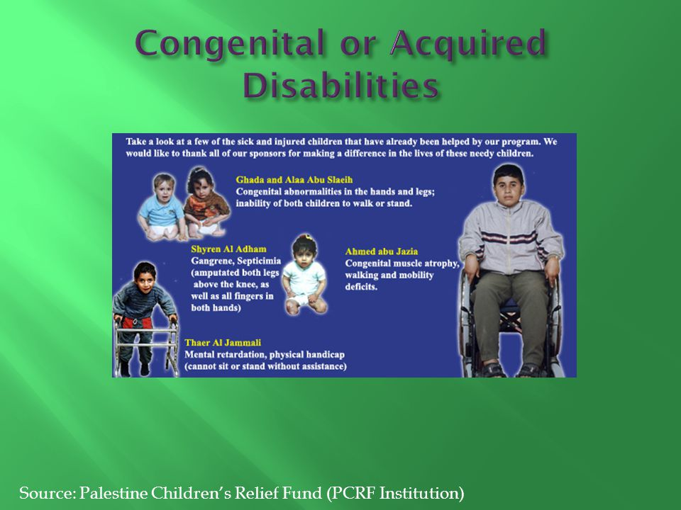 Congenital or Acquired Disabilities