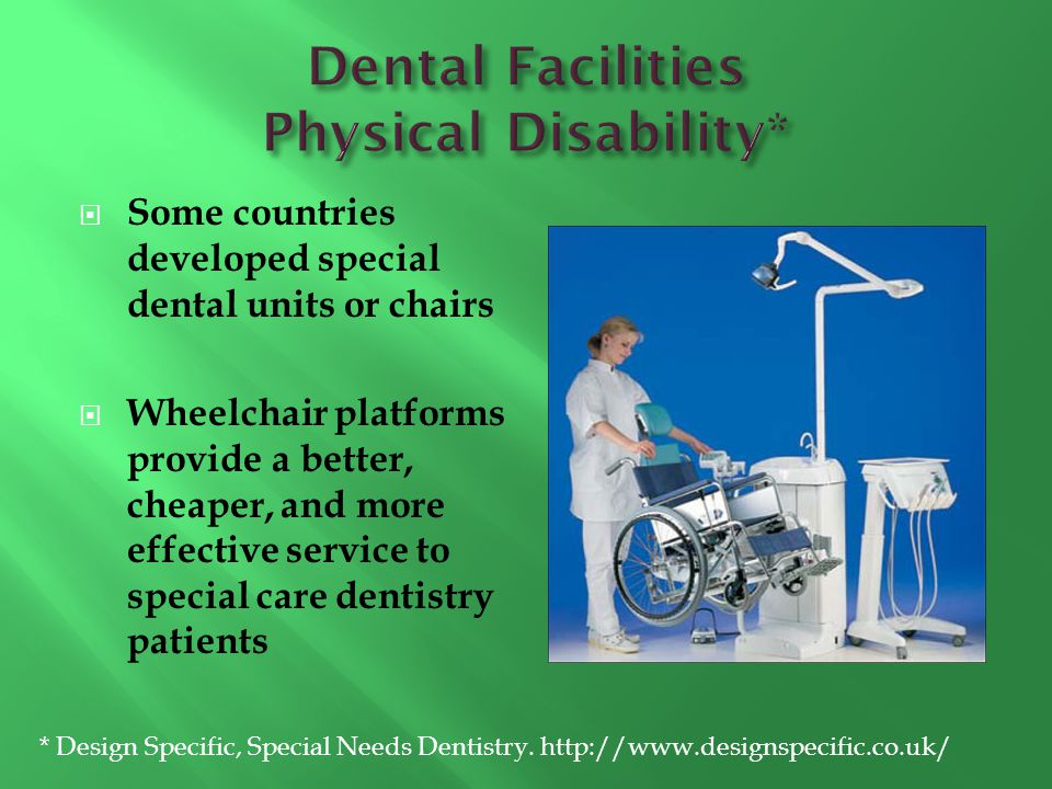 Dental Facilities Physical Disability*
