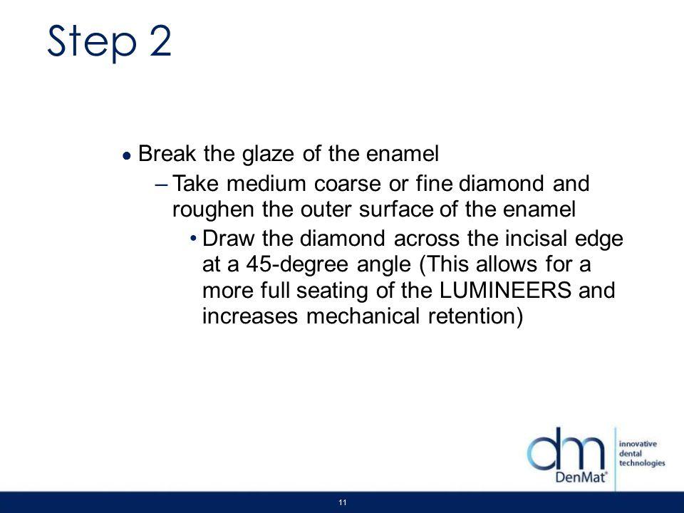 Step 2 Break the glaze of the enamel