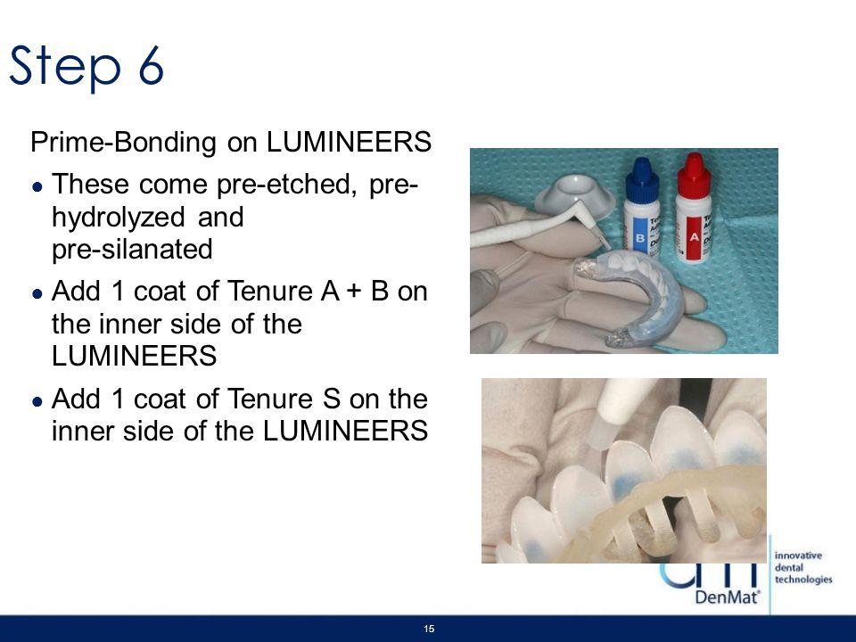 Step 6 Prime-Bonding on LUMINEERS