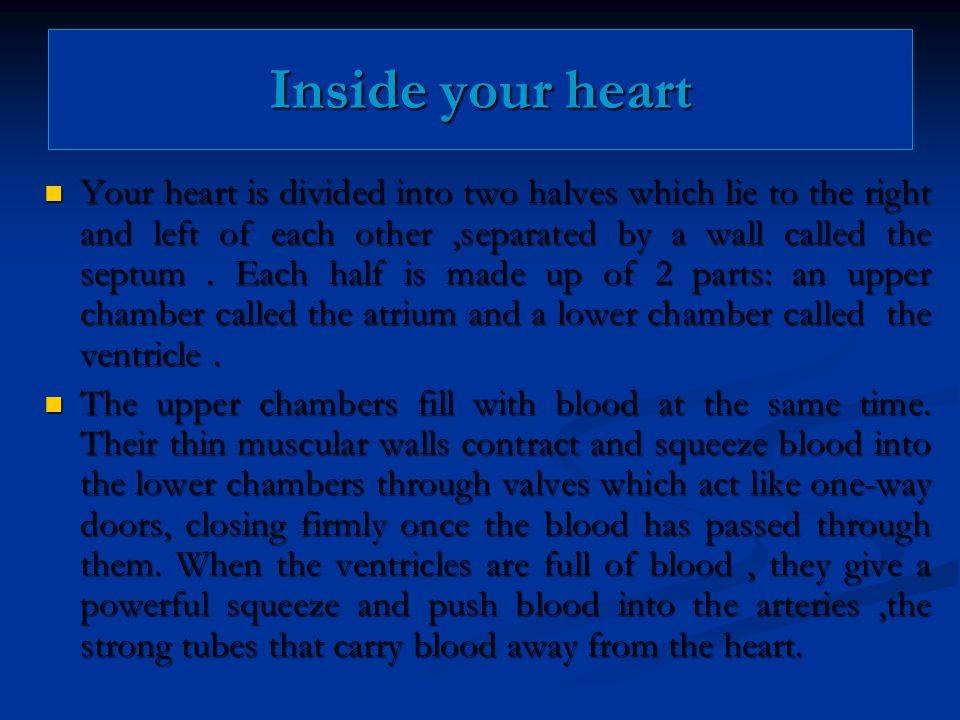Inside your heart