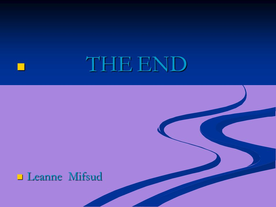THE END Leanne Mifsud