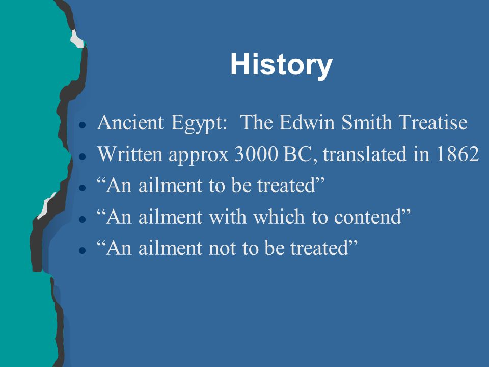 History Ancient Egypt: The Edwin Smith Treatise