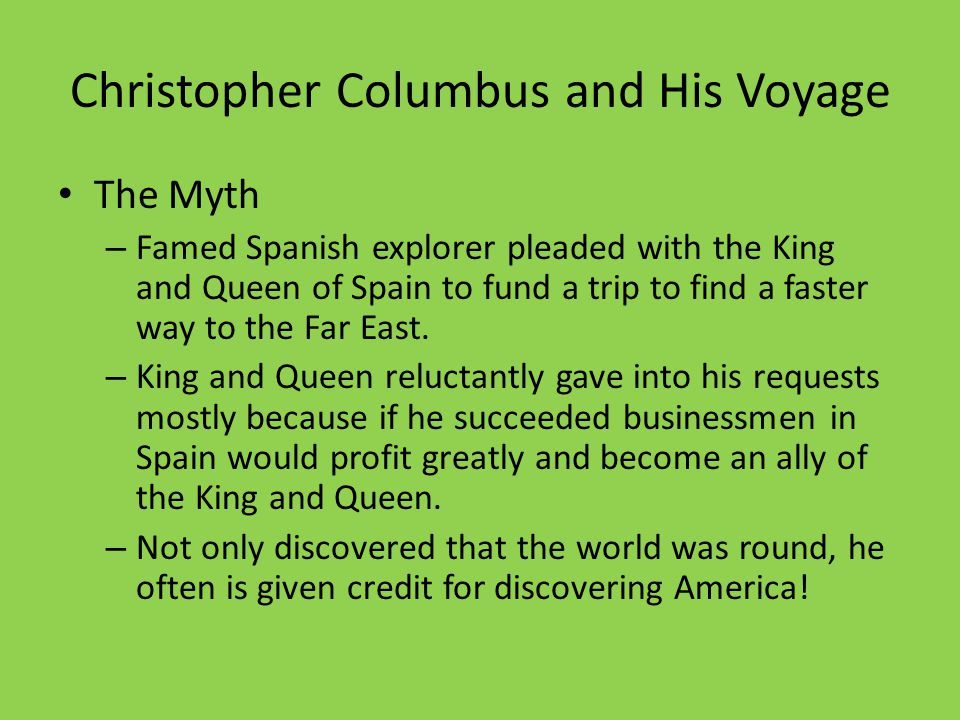 Christopher Columbus and His Voyage