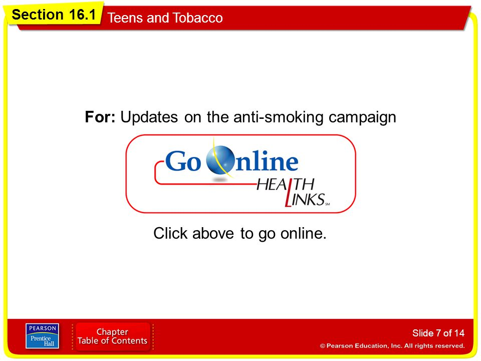 For: Updates on the anti-smoking campaign