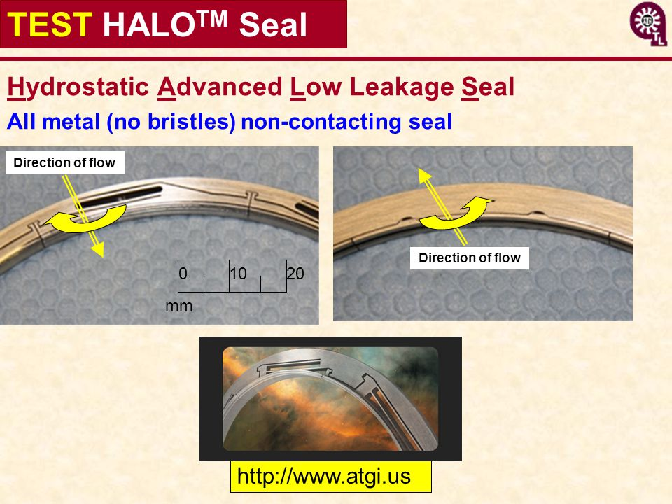 TEST HALOTM Seal Hydrostatic Advanced Low Leakage Seal