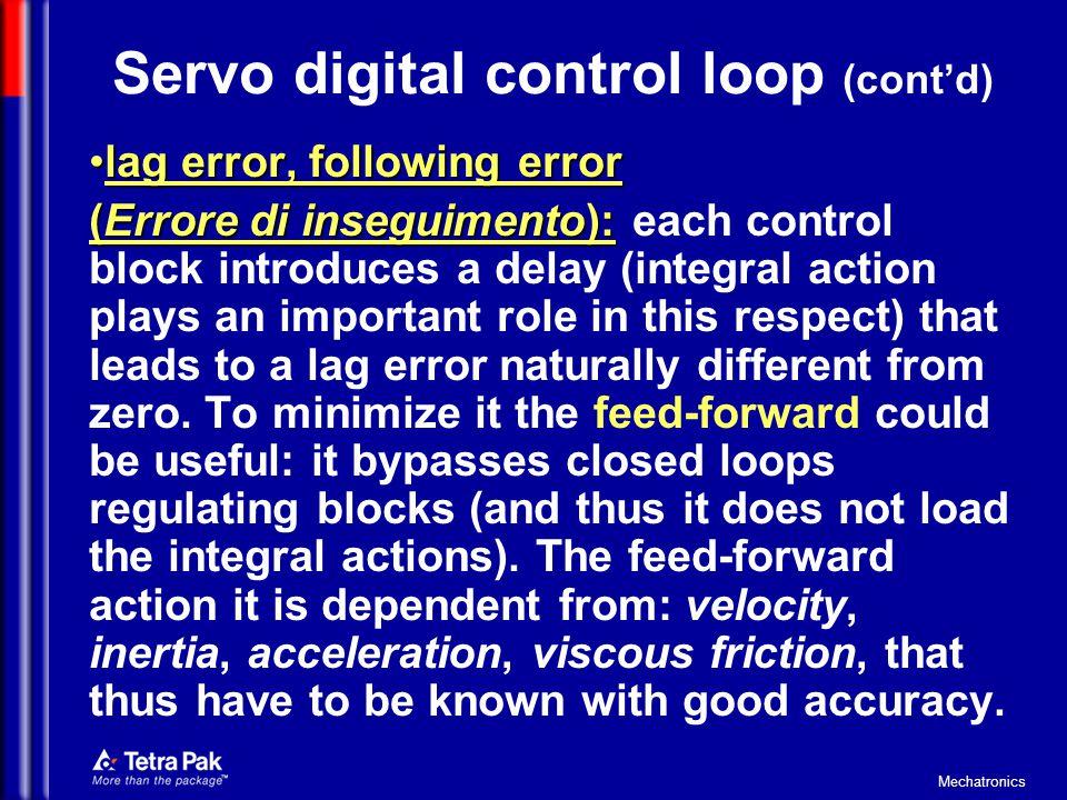 Servo digital control loop (cont'd)