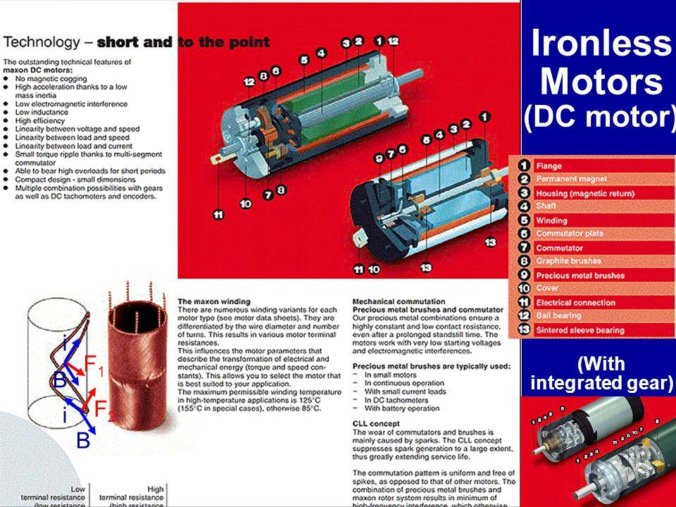 Ironless Motors (DC motor)