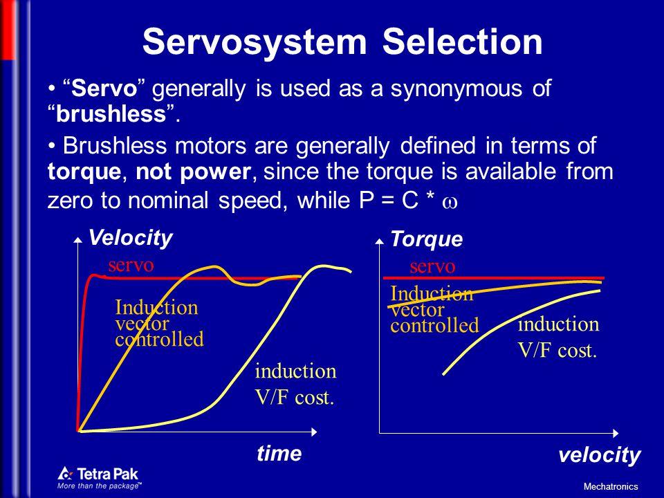 Servosystem Selection