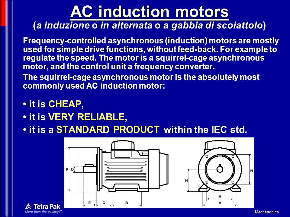 AC induction motors (a induzione o in alternata o a gabbia di scoiattolo)