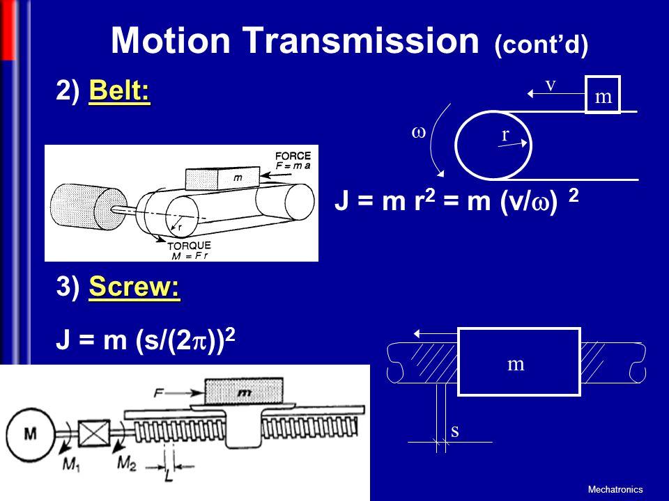 Motion Transmission (cont'd)