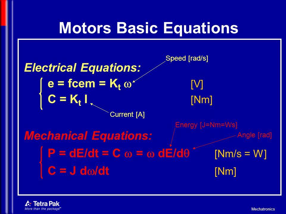 Motors Basic Equations