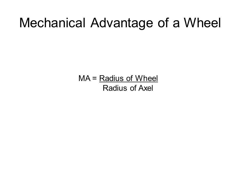 Mechanical Advantage of a Wheel