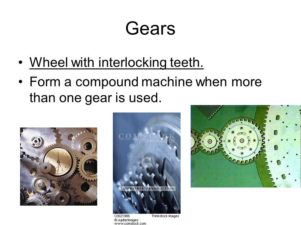 Gears Wheel with interlocking teeth.