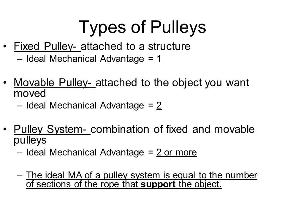 types of pulley systems pdf