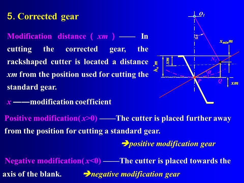 5. Corrected gear O1.