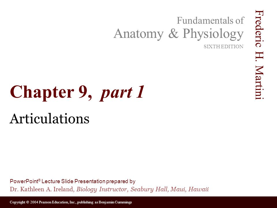 Chapter 9, part 1 Articulations