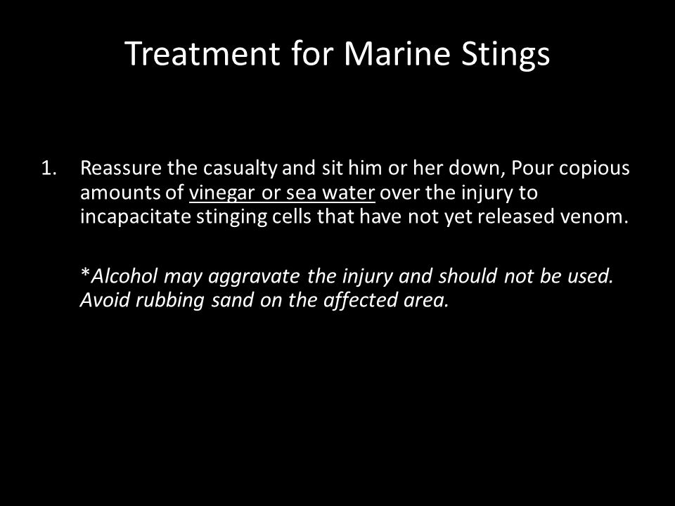 Treatment for Marine Stings