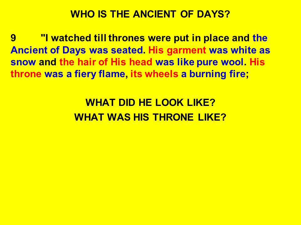 WHO IS THE ANCIENT OF DAYS