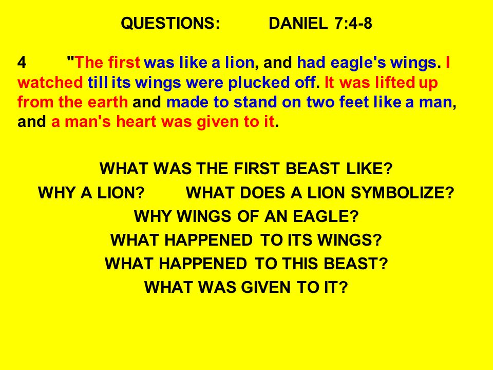 WHAT WAS THE FIRST BEAST LIKE WHY A LION WHAT DOES A LION SYMBOLIZE