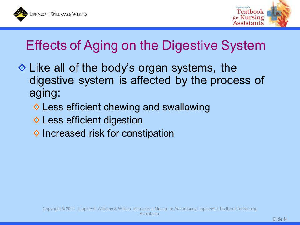 Effects of Aging on the Digestive System