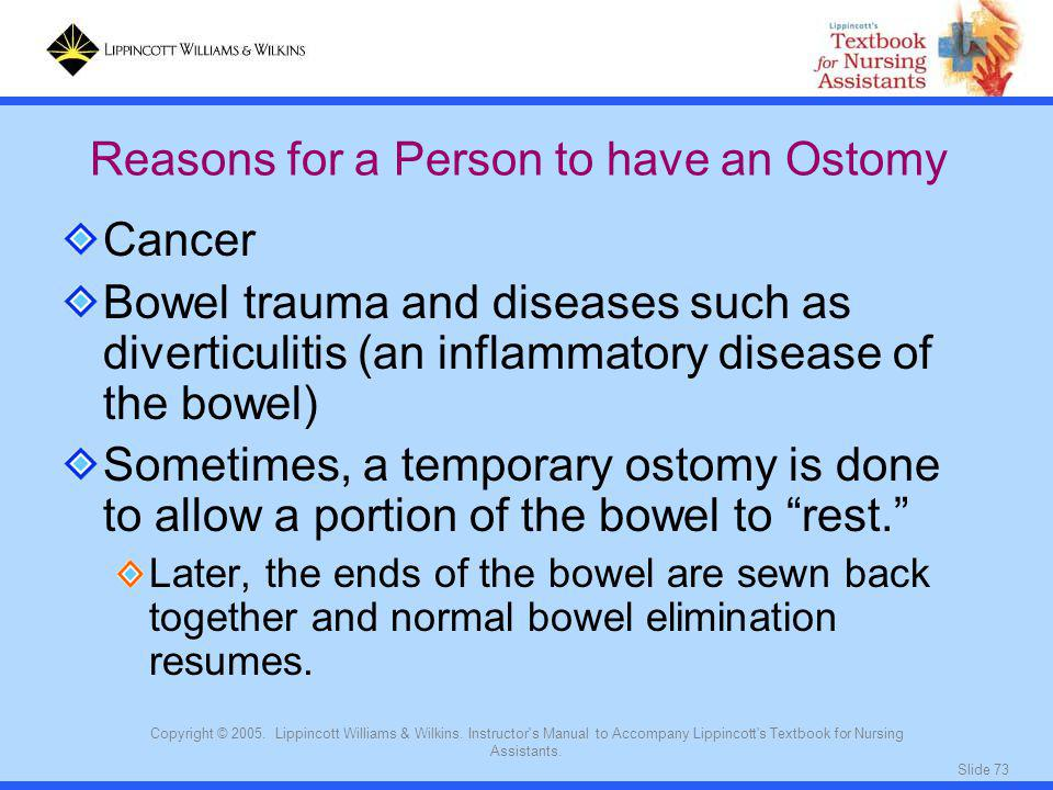 Reasons for a Person to have an Ostomy