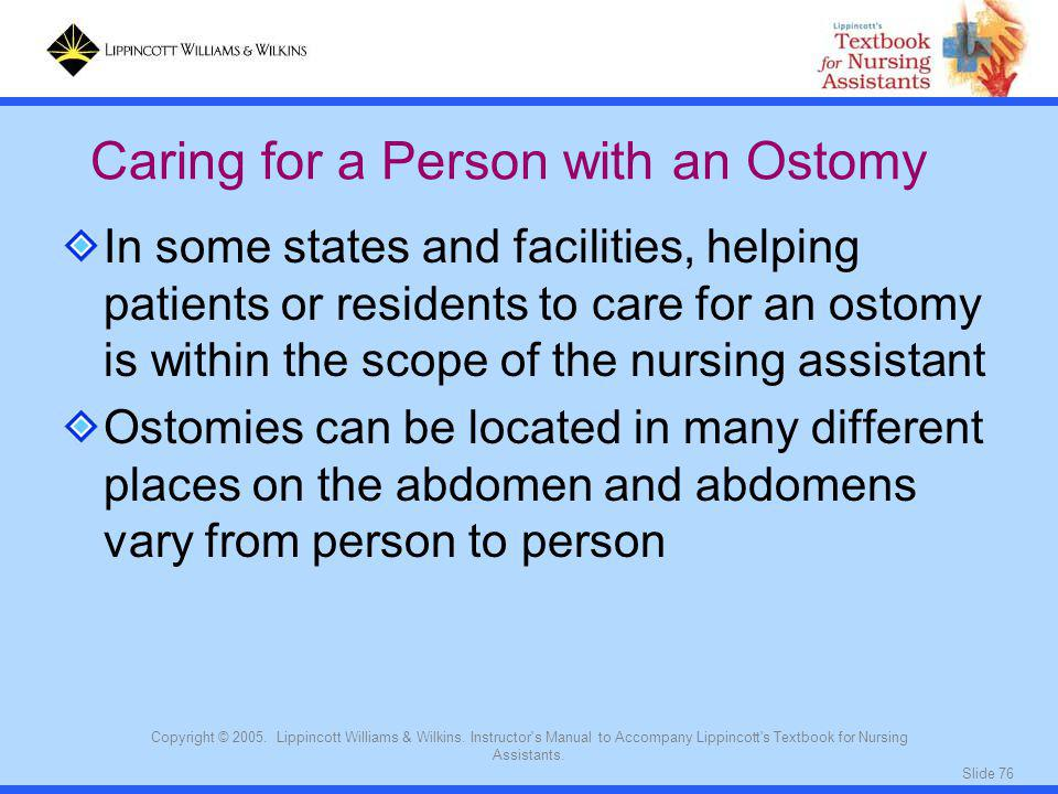 Caring for a Person with an Ostomy
